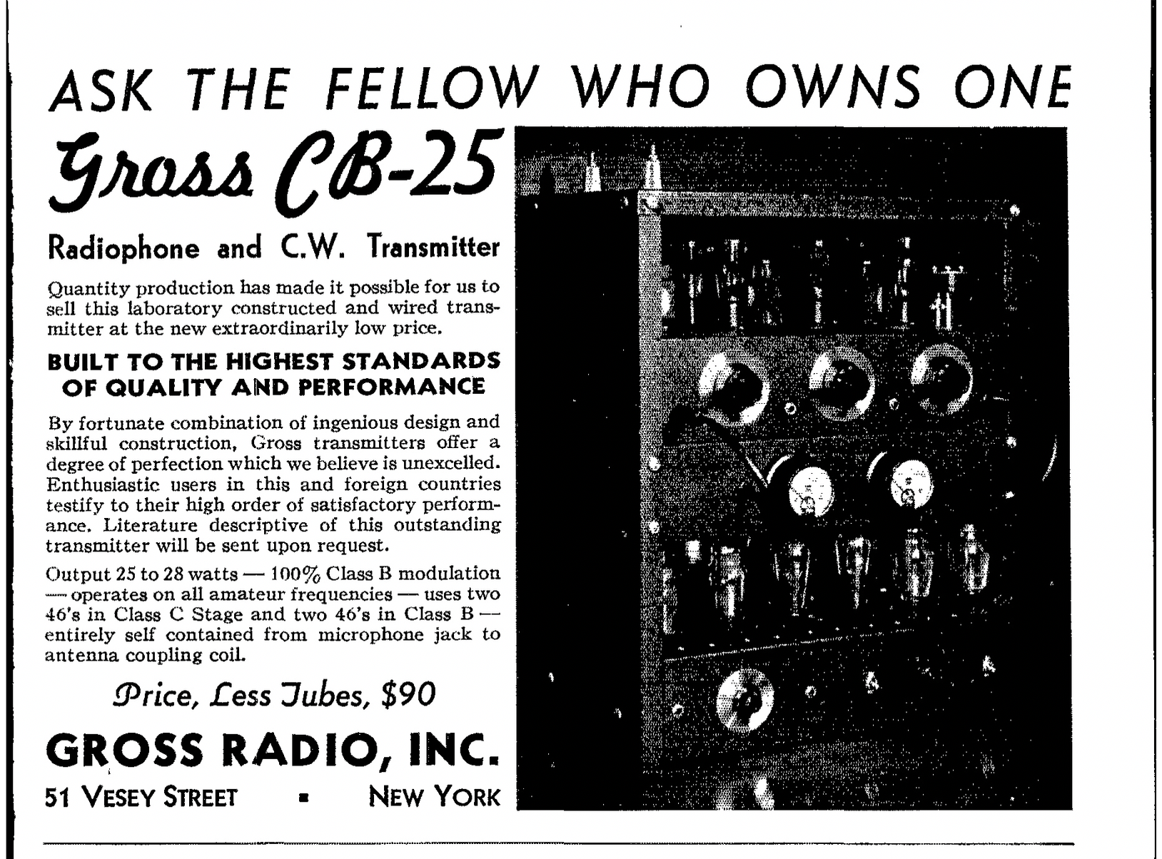 Gross CB-25 Transmitter