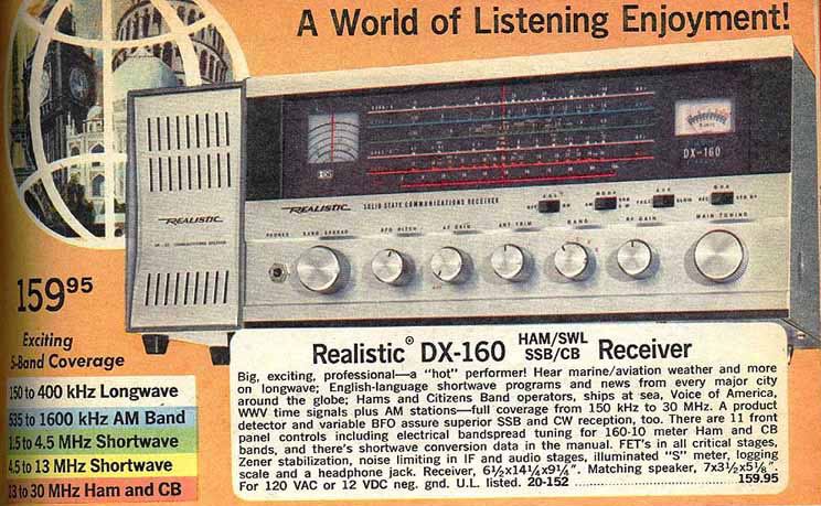 Radio Shack DX160 - Catalog Page